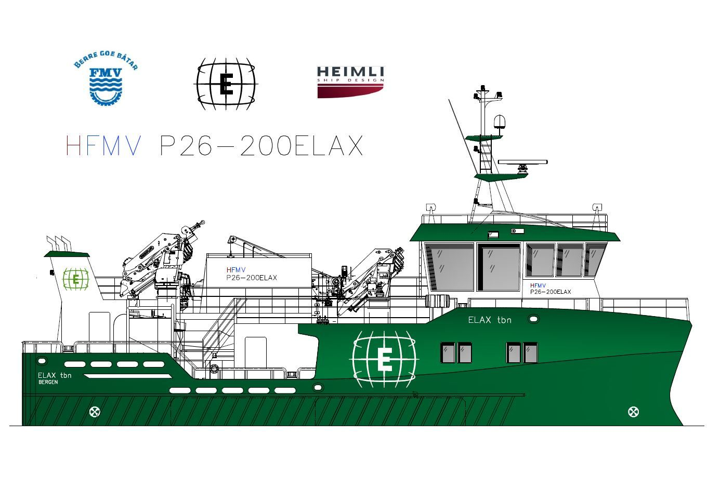 ELAX AS har inngått ny kontrakt for bygging av ett nødslaktefartøy av design HeimliFMV P26-200