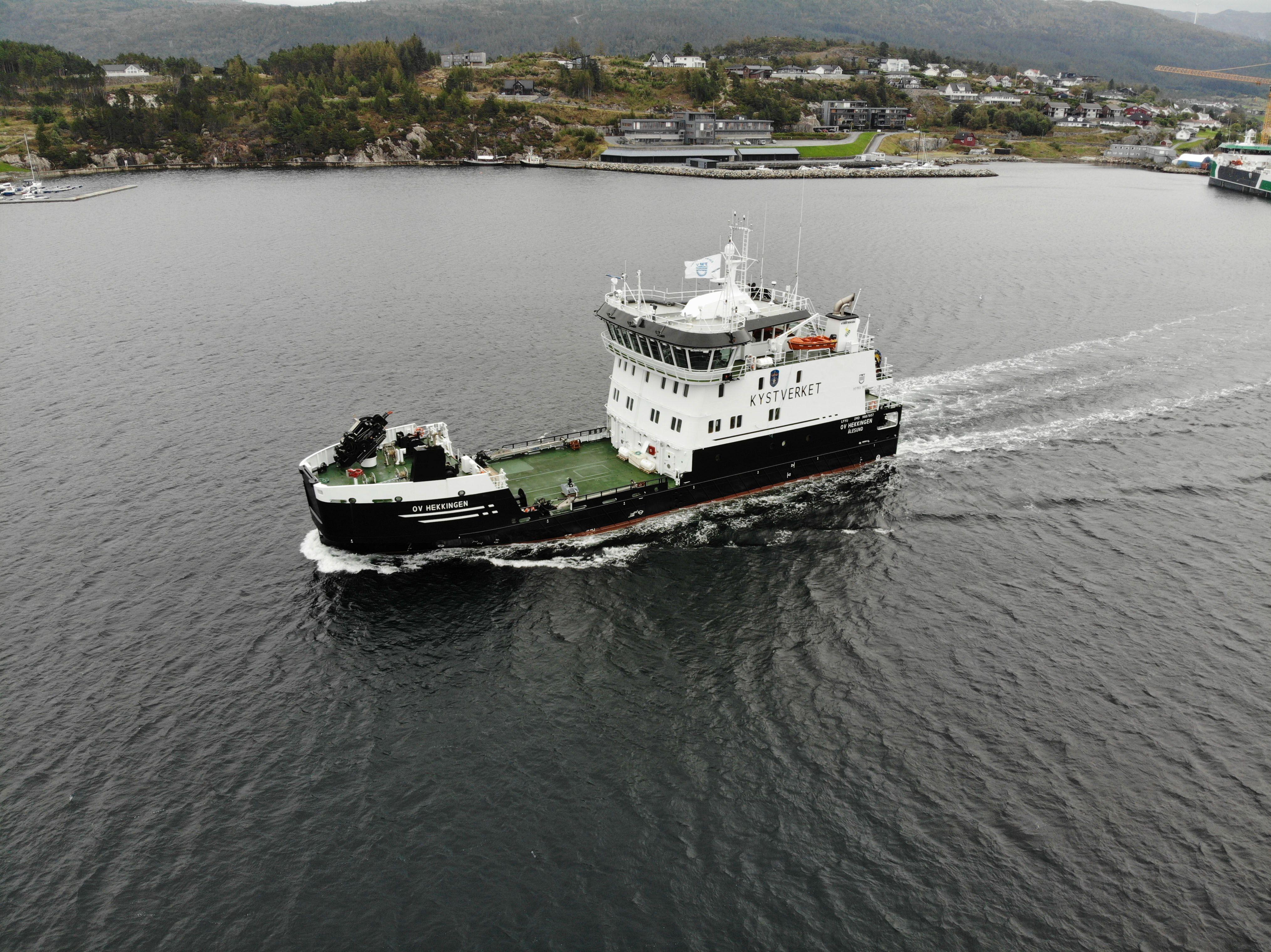 Kystverkets andre miljøflaggskip OV HEKKINGEN overlevert